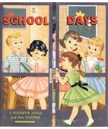 VINTGE 1959 SCHOOL DAYS PAPER DOLL LASER REPRODUCTN~Org SZE UNCuT FREE SH - $18.02