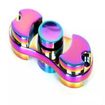 Aluminum Metal Rainbow Hand Spinner Fidget - One Item w/Random Color and Design image 5