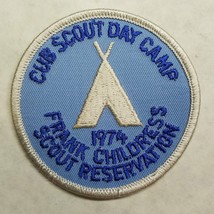 Frank Childress Scout Reservation 1974 Cub Scout Day Camp Patch 3-Inch D... - $6.78