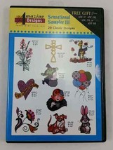 Amazing Designs Machine Embroidery Design CD ~ Sensational Sampler III - $17.72
