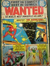 1972 Aug. Dc Comic Book *Wanted* Most Dangerous Villians Vintage Classic - $0.98