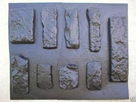 OKL-43K Limestone Veneer Rocks & DIY Supplies Kit+ 43 Molds Make 1000s of Stones image 6