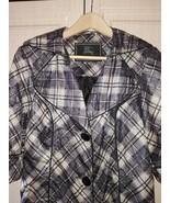 Burberry plaid grey trench coat - $300.00