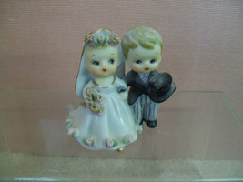 Rare Geo. Z. Lefton Bride and Groon Ceramic Bell 1956 Signed Dated - $100.00