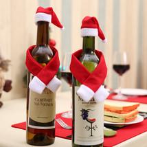 Christmas Wine Bottle Cover Set Bottle Decorations  Party Ornament Table... - $10.00