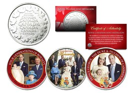BRITISH ROYAL FAMILY Set of 3 Royal Canadian Mint Medallion Coins PRINCE... - $15.79