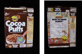 Cocoa Puffs Vintage Cereal Box Flat Empty Box how to draw Sonny - $16.99