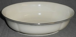 1990s Lenox CITY CHIC PATTERN Oval Vegetable Bowl MADE IN USA - $49.49
