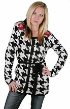 Iron Fist Women's On The Hunt Jacquard Hounds Tooth Cardigan NWT image 1