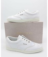 NIB Jimmy Choo Brian Mens White Leather Wing-Tip Slip On Trainers Sneake... - $375.00