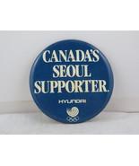 Vintage Summer Olympics Sponsor Pin - Hyundai Canada Seoul 1988 - Cellul... - $15.00