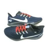 Nike Mens Air Zoom Pegasus 36 New England Patriots Running Shoes Size 10... - $128.69