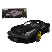 Ferrari 458 Speciale Elite Edition Matt Black 1/18 Diecast Car Model by ... - $172.69