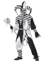 California Costumes Mens Nobody's Fool Jester Evil Sinister Scary Psycho... - $41.95