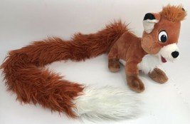 "Todd Fox and the Hound Plush Stuffed Animal Disney Parks 42"" Fluffy Long Tail  - $29.69"