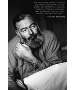 ERNEST HEMINGWAY POSTER 24x36 Quote Beauty Courage Truth Virtues Out of ... - $24.99