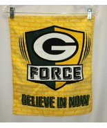 "Green Bay Packers G FORCE Hand Towel 14.75""x 17.75"" Believe In Now - $12.86"