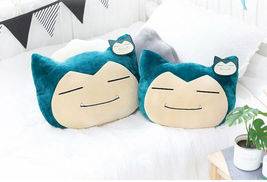 New Pokemon Cushion Snorlax Face Plush Doll Length 40cm Pillow Toy Pikac... - $39.90