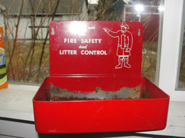 Metal wall mount ashtray,large,Please Use for Fire Safety and Litter Con... - $190.00