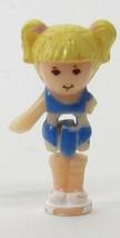 1989 Vintage Polly Pocket Doll Polly Pool Party Playset - Tiny Tina Bluebird Toy - $5.00