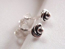 Enfolded Dot Ball Stud Earrings 925 Sterling Silver Corona Sun Jewelry - $6.92