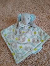 Blankets & Beyond Gray Elephant Security Blanket Pacifier Holder Loop Lovey - $18.80