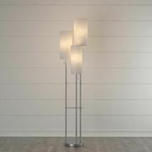 Trio 68 in. Genuine Steel Top Quality 3light Modern Floor Lamp New Free ... - $130.78
