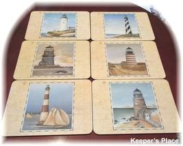 Set 6 Jason Designer Collection GUIDING LIGHTS Lighthouse Placemats New ... - $29.95