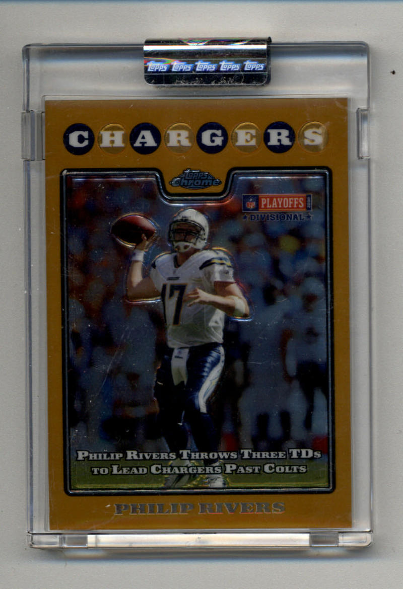 Primary image for 2008 Topps Chrome Gold Refractors #TC158 Philip Rivers 154/199