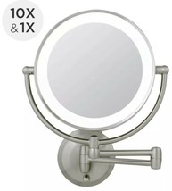 Zadro 1X-10X Next Gen Cordless LED Lighted Wall Mount MakeUp Mirror LEDW410 - $89.09