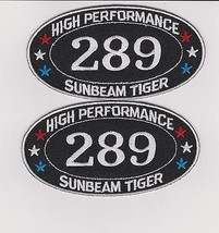 Sunbeam Tiger 289 SEW/IRON On Patch Badge Emblem Embroidered Alpine Racing Car - $10.99