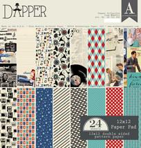 Authentique - Dapper 12x12 Paper Pad, 24 sheets (Retro, Masculine, Classic) - $19.50