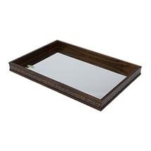 "WoodArt Wood and Mirror Decorative Tray- Serving Platter 13x7,5x2"" - $25.68"