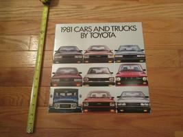 Toyota Cars & Trucks 1981 Car auto Dealer showroom Sales Brochure - $8.99