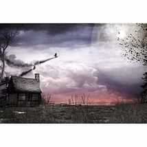 OFILA Haunted House Backdrop 8x6.5ft Haunted Halloween Escape Games Phot... - $43.74