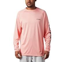 Columbia Men's Terminal Tackle Long Sleeve Shirt, Sorbet/Black Logo, 1X - $39.99