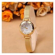 Women's Wristwatch Lady Bracelet Stainless Steel Quartz Wrist Watch Gold B12