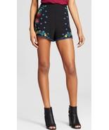 Xhilaration Womens Juniors Embroidered Floral Boho Hippie Shorts NWT Sz ... - $14.99