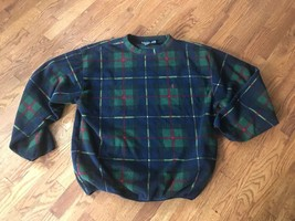 Men's Vintage Nautica Plaid Sweatshirt Sweater Size XXL - $23.36