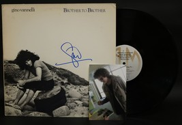 """Gino Vannelli Signed Autographed """"Brother to Brother"""" Record Album - $29.99"""