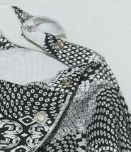 Snopea 3 Piece Outfit Vest Shirt Pants Black White Velour Size 18 Months image 4