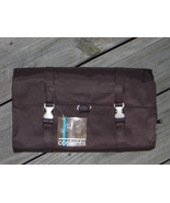 CONTENTS Folding Makeup Toiletry Travel Bag Brown Nylon Carry All NWT - $12.95