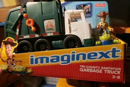Fisher Price Imaginext Tri county Toy Story Garbage Truck Woody Alien NEW box - $94.99