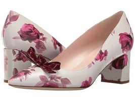 Kate Spade Shoes Madelaine Plum Dawn Rose Nappa/Red Chestnut Patent Pump ( 9 ) - $175.61
