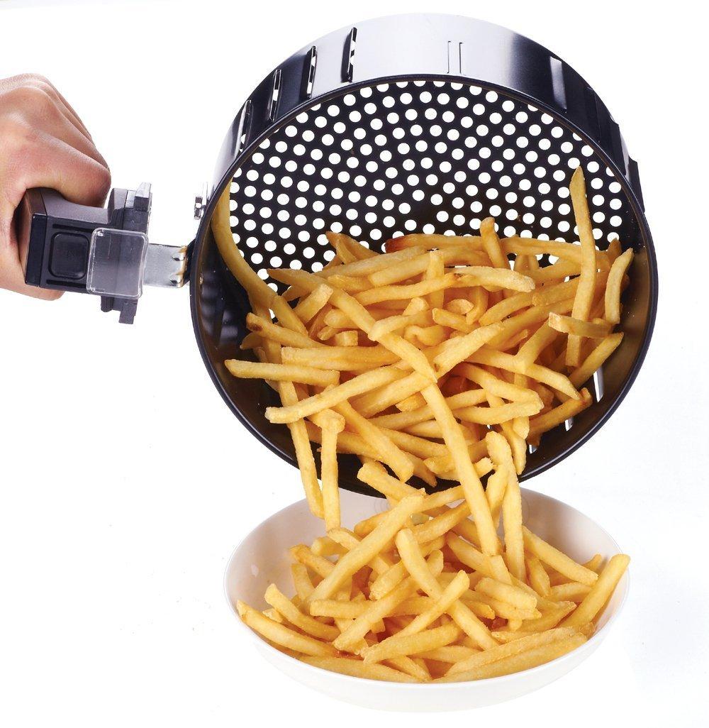 Electric Air Fryer, Oil-Less, Low Fat, Black, 1400W 4th Generation + Recipe Book