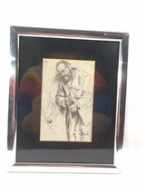 Charcoal Figure Drawing Man with Knife - $45.24