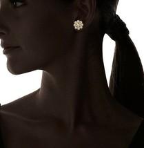 Nuovo Cohesive Jewels Placcato Oro Floreale Zircone Cubico Crystal Orecchini Nwt image 2