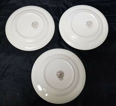 "French Saxon China Co Side Plates Set of 3 7.25"" White & Lgt Blue Pottery Salad image 7"