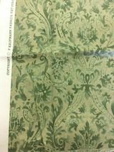 P Kaufmann Jade Green Antique Damask Print Upholstery Fabric  3/4 yd - $14.25