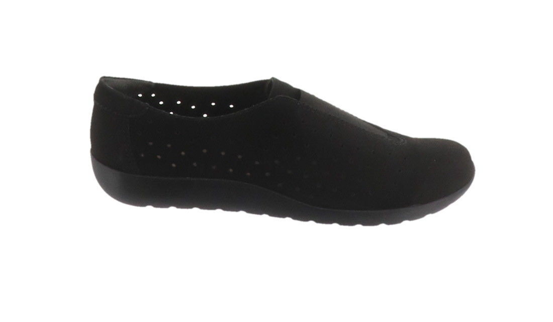 Primary image for Clarks Perforated Slip-On Shoes Medora Gemma Black 8M NEW A282691